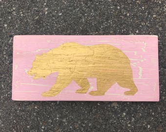 Wood Sign Wall Decor - Bear