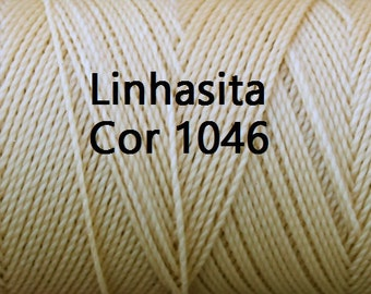 Linhasita White Sand (Cor 1046), Spools/ Strings/ Hilo/ Waxed Polyester Cords