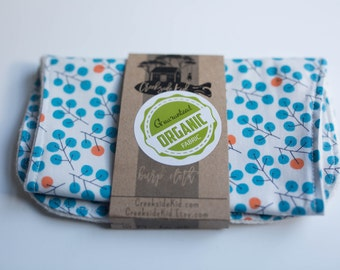 Organic Burp Pad with Organic Cotton and Organic French Terry