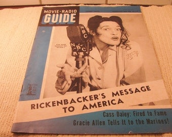 1943 MOVIE-RADIO Guide with Pepsi-Cola ad