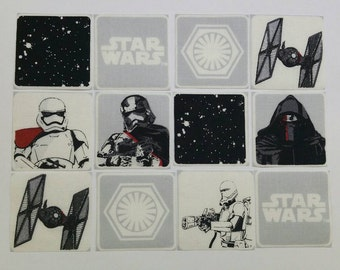 Star Wars Patches Applique Fabric Motifs Iron on or Sew on patches/embellishments/transfers