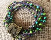 Forest Fairies: Versatile crocheted necklace / bracelet / belt / headband
