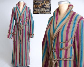 1930s Jacobs Oregon City Woolen Mills Shawl Collar Slant Pocket Blanket Robe