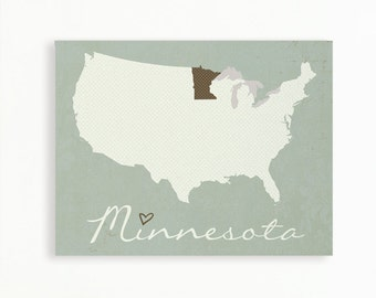 NEW USA Dot Style Canvas Map