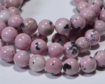 Rhodonite 6.3mm  Natural Rhodonite Gemstones Jewelry Making Supplies