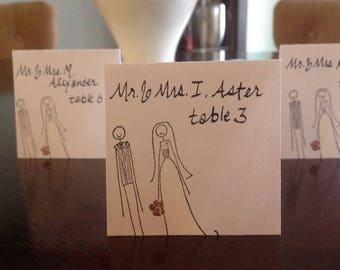 Bride & Groom Place Cards