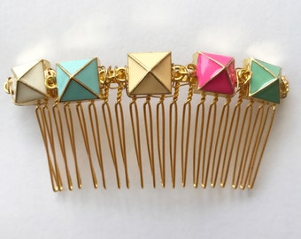 Pastel Pyramid Comb, for weddings, parties, special occasions