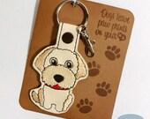 Labradoodle Dog Breed Key Fob, Purse Charm