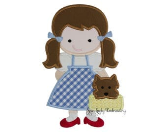 Oz Dorothy and Toto Applique Embroidered Patch , Sew or Iron on