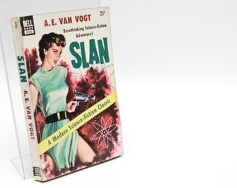 "Sci Fi Paperback ""Slan"" Gifts for Bookworms 1953 1st Edition Paperback A.E. van Vogt 