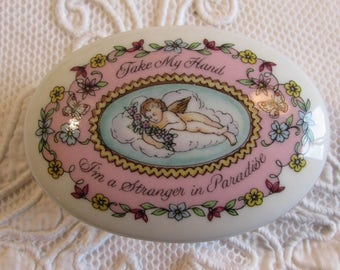 Vintage porcelain 'The melodies of love' music box collectors piece or for loving gift...