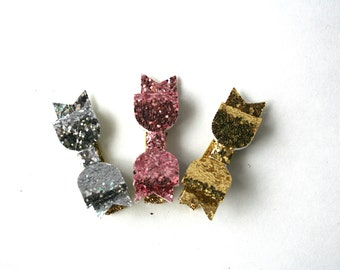 Baby Hair Clips - Baby Hair Clips in Gold, Pink, and Silver Glitter