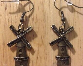Don Quixote Windmill Earrings