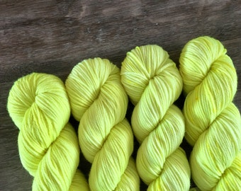 SALE superwash {worsted}   HIGHLIGHTER   ready to ship   hand dyed yarn   superwash merino