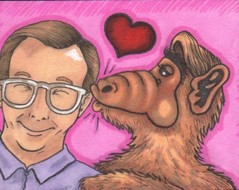 Willie and ALF Sketchcard