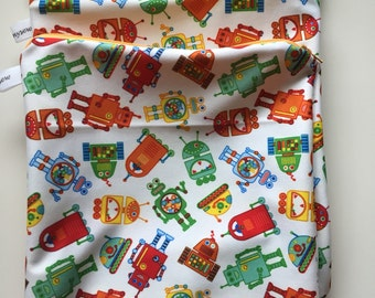 Small Robots Wet Bag In Stock, Ready to Ship