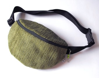 fanny pack/hip bag -  green/khaki (medium size)