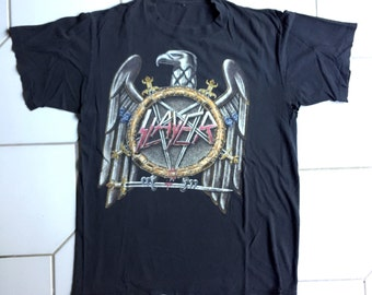 """vintage SLAYER shirt - 1991 - """"Touring in the Abyss"""" - Size Medium/ Large"""