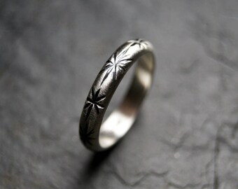 Celestial Line Ring - Star Band in Sterling Silver