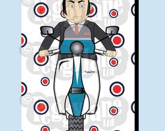 Scooter Card blank PeggyJane