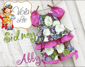 Abby, Girl's Shorts Pattern, Baby Pants Pattern pdf. Girl's Sewing Pattern. Infant Shorts Pattern. Baby Shorts Pattern, pdf Sewing Pattern.