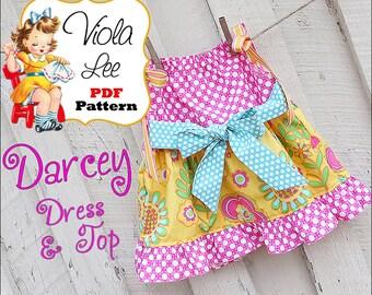 Darcey Pillowcase Dress Pattern pdf. Pillowcase Top Pattern. Baby Dress Pattern. Toddler Dress Pattern. Girl's Dress Pattern. Pdf Pattern