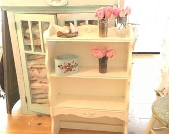 Vintage Chippy white shabby chic cupboard shelf shabby chic cottage chic