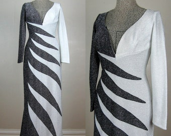 Vintage 1960s/1970s Dress 60s/70s Sexy Frederick's of Hollywood Lurex Gown Size M