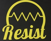 RESIST Decal - Awareness - Resist - March for Science  - Science Decal - Protest Decal- Science March - Science Gift