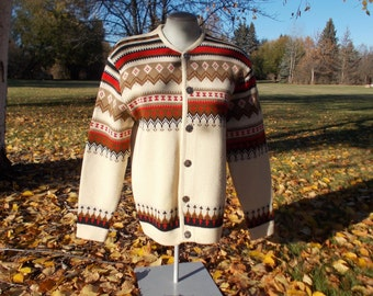 vintage Norwegian ski sweater - 60s/70s