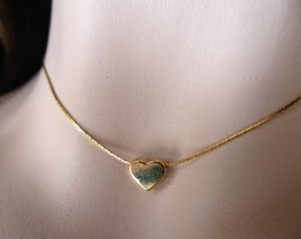 Gold Heart Necklace, Simple, Minimalist Style, Dainty,Lovely Gift/Friend/Mom/Bridesmaids Layering Necklace//LR032N