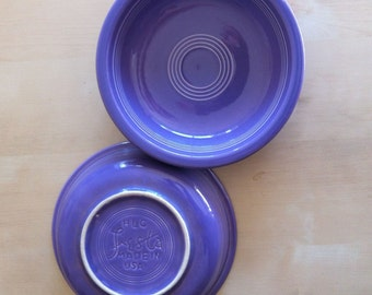 Two Lilac FIESTA Ware Bowls, Homer Laughlin Compay, Lavender, 1993 to 1995 Limited Run, Retired