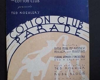 "1935 Rare Vintage Sheet Music Cotton Club Parade // ""Cotton"" by Rube Bloom // Ted Koehler Lyrics"