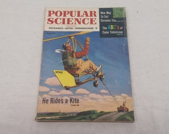 Popular Science July 1954 - Great Condition - Fascinating Articles and Hundreds of Vintage Advertisements
