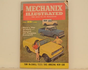 Mechanix Illustrated Magazine, April 1961 - Great Condition, Tips,  Science, Technology, Vintage Ads, International Harvester SCOUT review