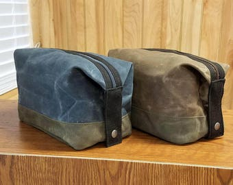 CUSTOM LISTING for Nicole Nehring - 2 Additional Waxed Canvas Dopp Kits - Add to Previous Order