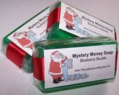 Holiday Mystery Money Soap!  Santa Fart Scent Available!  You choose scent!