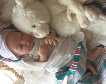 Reborn Preemie Baby Joseph Completed from the Teagan 16 inch Kit with Magnetic Pacifier