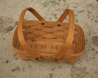 Vintage Longaberger Basket Signed, Apple Basket, Small High Quality Basket, Fruit Basket, Home Decor, Easter Basket, Summer Decor