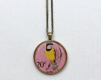Australia 1966 Golden Whistler Pendant