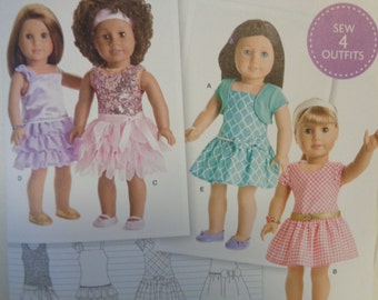 Simplicity 8360--18 Inch Doll Clothing Pattern --New Uncut-