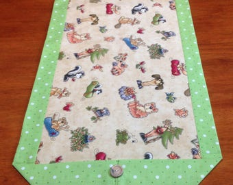 Table runner, kitchen decoration, double sided, linens approx 14 x 42