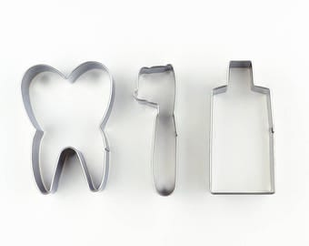 Tooth Cookie Cutters/Toothbrush Biscuit Cutter/Toothpaste Cookie Mold/Dough Cutter/Fondant Tools/Baking Supply/Theme Party