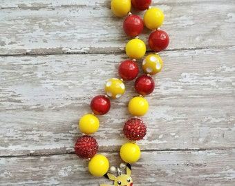 Pikachu inspired necklace