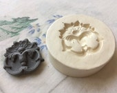 Clay Sprig Stamp Lotus Jewel Pottery Press Mold Relief Mold or Sprig Mold Floral Stamp for Ceramic Decoration and Texture