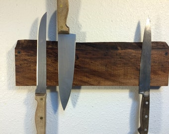 Live Edge Walnut Knife Rack. Shipping Included.