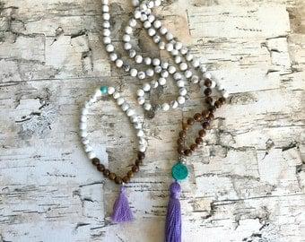 Dreamer. Howlite Meditation Necklace