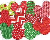 11 Mickey / Minnie Christmas iron on fabric appliques DIY