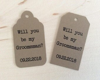 Will You Be My Groomsman? - Will You Be My Best Man? - Gift Tags - Bridal Party Tags - Tags & Twine - Rustic Wedding Decor - Rustic Gift Tag