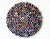 Wall Clock, Zero Waste Product Home Decor Wall Art